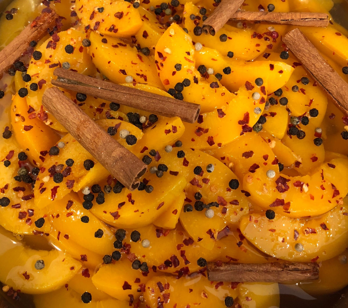 Spiced peaches and learning to cook